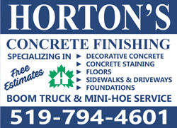 2019-2020 Horton's Concrete Finishing